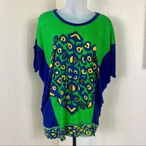 LABEL by RITU KUMAR Peacock Tshirt Loose Sz 3 NEW